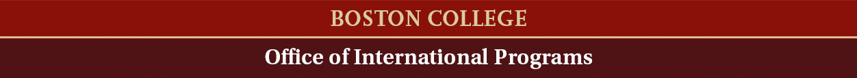 Office of International Programs - Boston College
